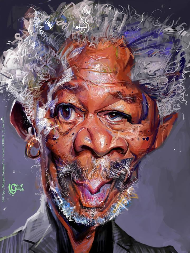 Morgan Freeman por Valentin Chibrit