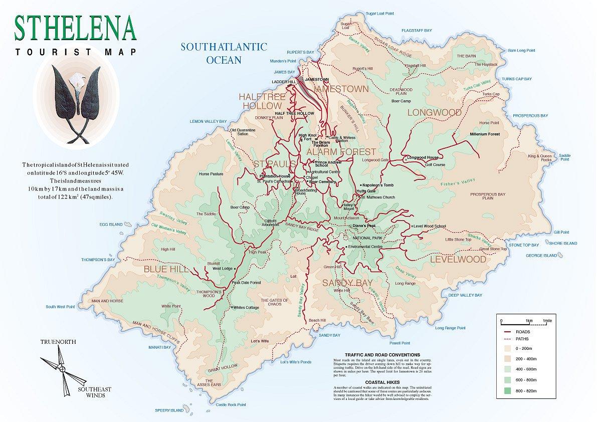 Mapas da Ilha de Santa Helena | Reino Unido