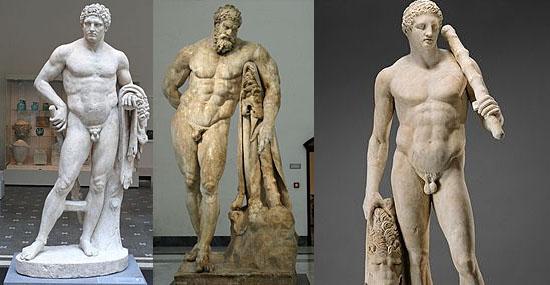 Estátuas Gregas antigas