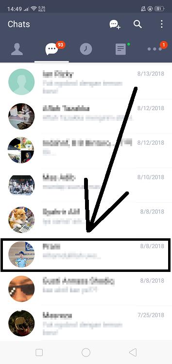 Cara Menyembunyikan Chat di LINE