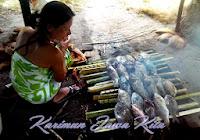 makan siang dengan ikan bakar di karimunjawa