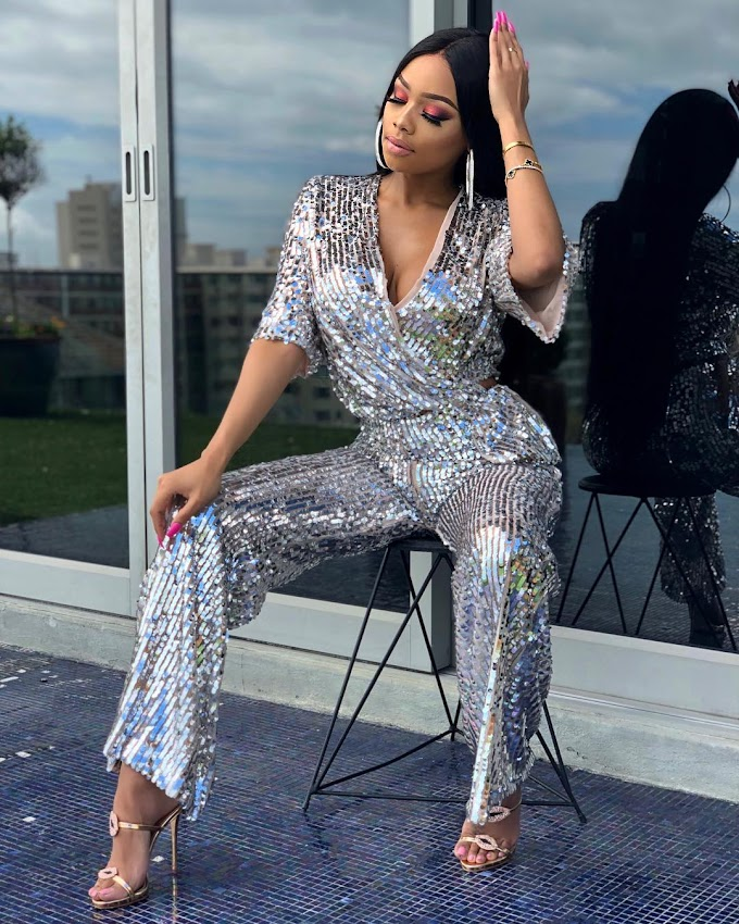 Bonang Matheba Is Such A Babe In Sparkles! Three Times The Charm.