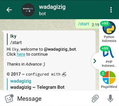 wadagizig Telegram Bot