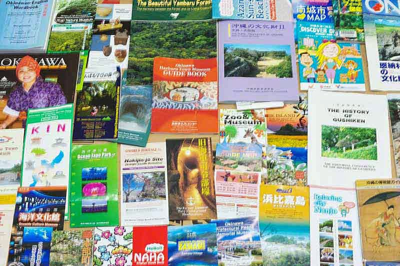 books, brochures,travel