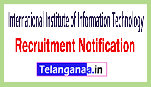 International Institute of Information Technology IIIT Recruitment