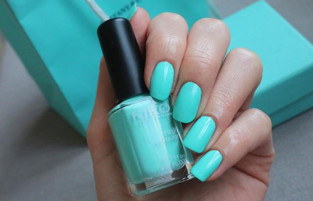 Мятный бирюзовый лак для ногтей, Tiffany blue nail polish