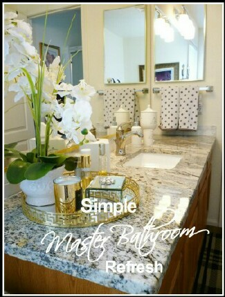 Simple Master Bathroom Refresh