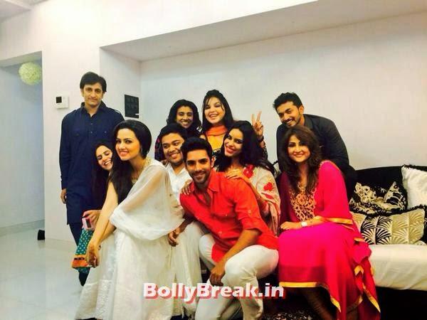 Sana Khan with her friends, Bollywood Eid Celebration Pics 2014