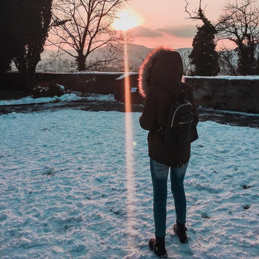 co warto zobaczyć w Graz, Austria, śnieg, wzgórze Schlossberg, Polka w Austrii