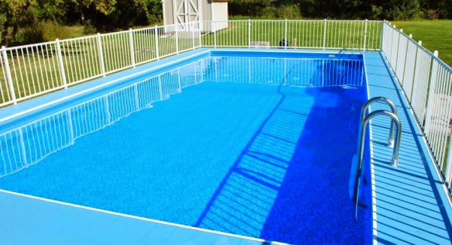 Above Ground Pool set for exercising