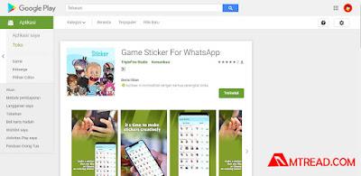 Aplikasi Stiker Whatsapp Bertema Game Keren