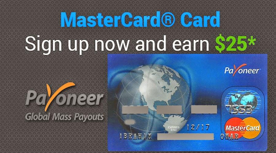 Payoneer MasterCard, PayPal and Payoneer, بايونير ماستركارد, ربط بايونير بالباى بال