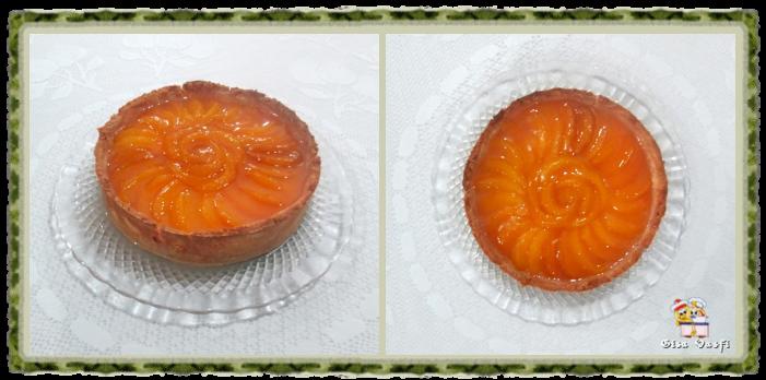 Torta de pêssegos com creme 1