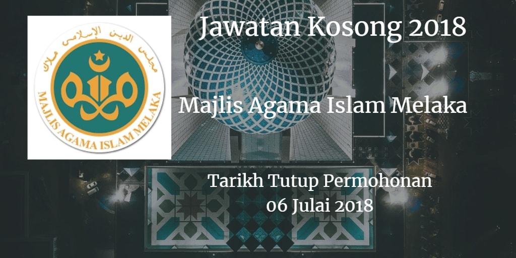Jawatan Kosong MAIM 06 Julai 2018
