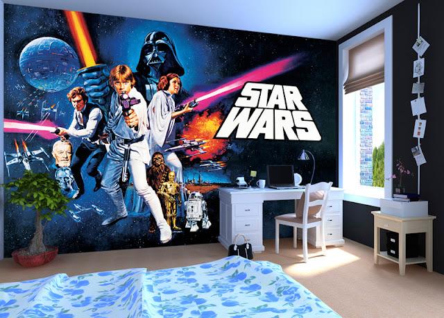 Childrens wall murals Star Wars Boys Room Wallpaper
