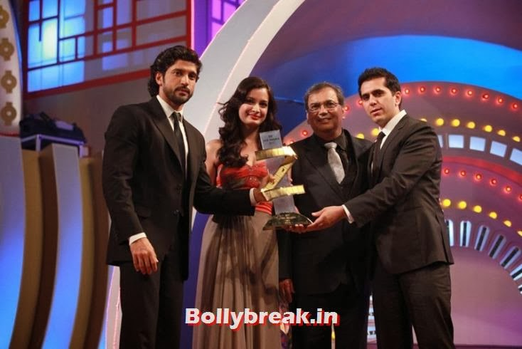 Farhan Akhtar, Dia Mirza, Subhash Ghai and  Ritesh Sidhwani, Zee Cine Awards 2011-2013 Pics