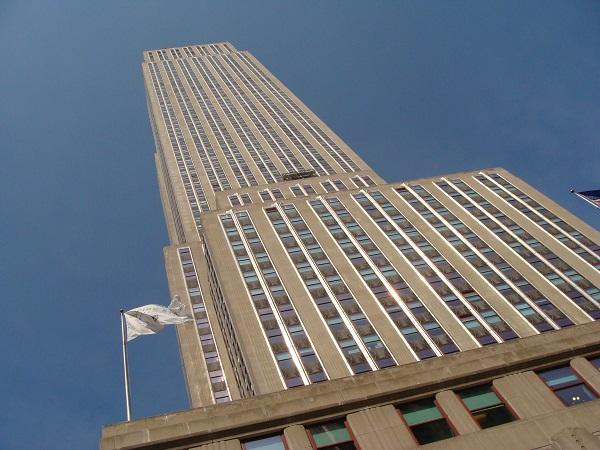 Blick auf das Empire Stade Building vom Eingang aus nach oben!