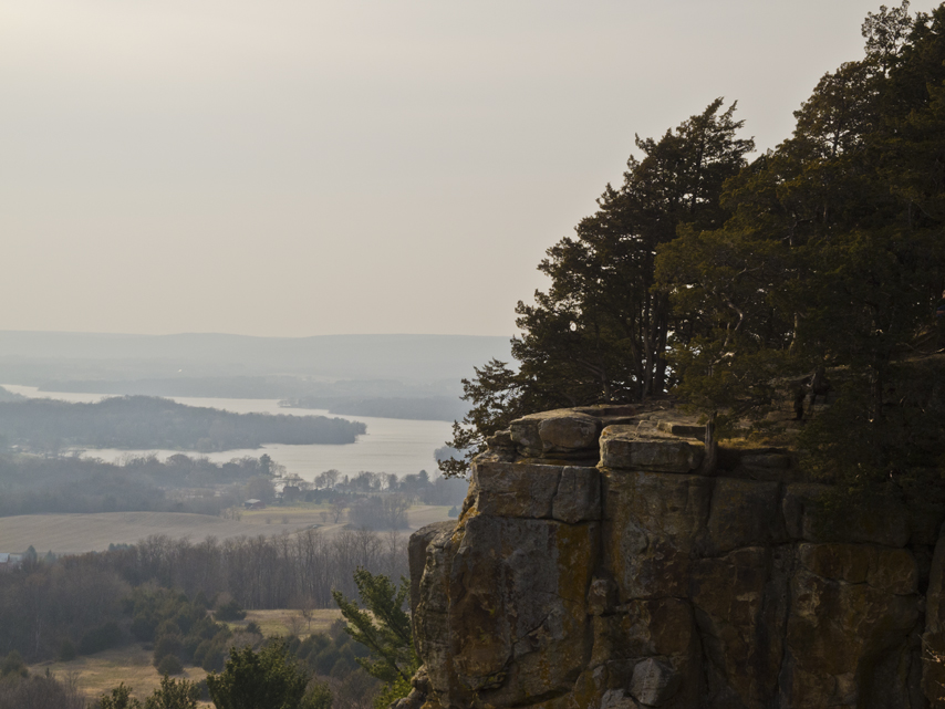 Lake Wisconsin beyond cliffside