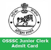 OSSSC Junior Clerk Admit Card 2017