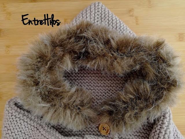 abrigo tejido a dos agujas