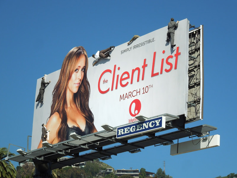 Client List season 2 mannequin billboard installation