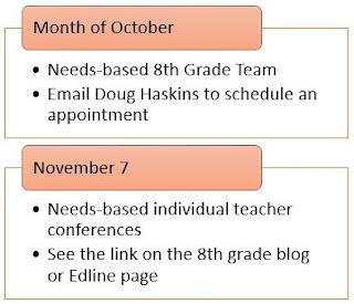 8th Grade conferences
