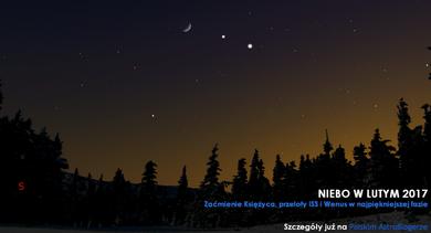 NIEBO NAD NAMI (2) - Luty 2017 - Zaćmienie Księżyca, przeloty ISS i Wenus w najpiękniejszej fazie
