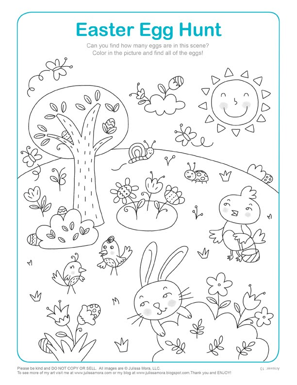 egg hunt coloring pages - photo#7