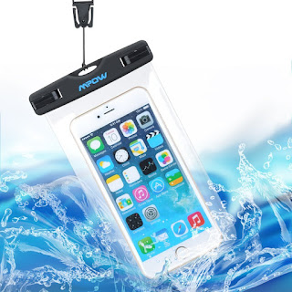 BEST PRICE IPX8 Waterproof Case, Mpow Universal Durable Underwater Dry Bag – £5.69