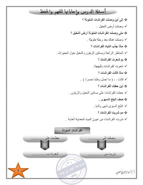 تحميل مذكرة عربي تالتة ابتدائي 2018