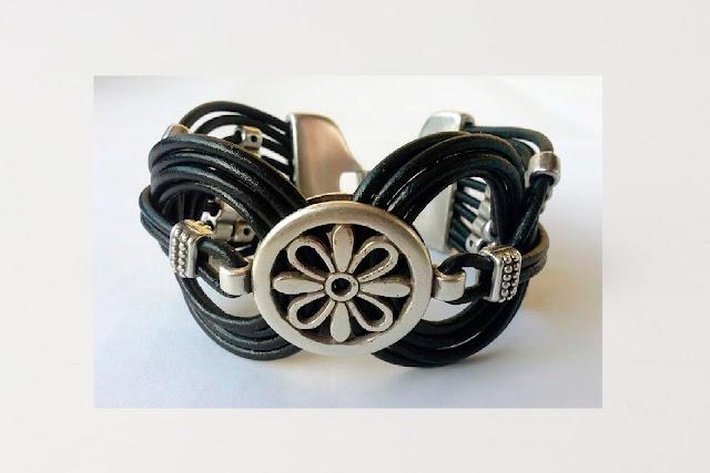 pulseras de cuero y zamak, pulseras, bracelets, complementos, accesorios, moda mujer, women's wear, women's fashion, moda mujer, mulher, mujer,