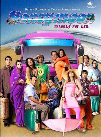 Poster Of Bollywood Movie Honeymoon Travels Pvt. Ltd. 2007 300MB DVDRip 480P Full Hindi Movie