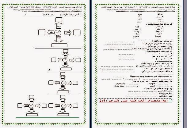 مذكرة جديدة بالقرائية عربى تانية ابتدائى ترم ثانى2015 اية%2