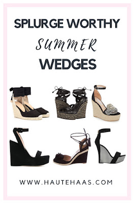 Chic Designer Black Wedges That Are Mom Life Friendly http://www.hautehaas.com/2018/05/must-have-black-summer-wedges-save-or.html