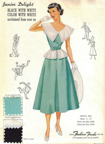 1950's Fashion Frocks Style Card