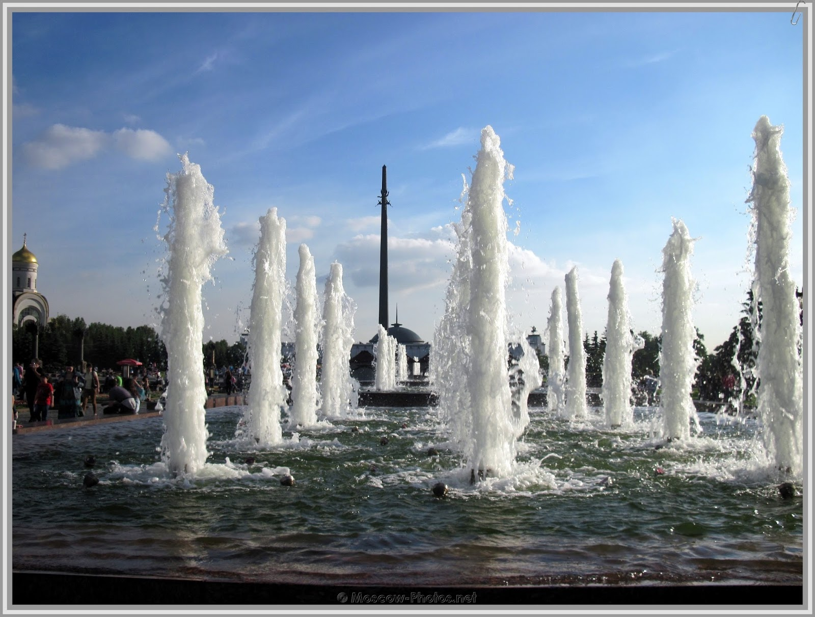 Fountains in Moscow's Victory Park