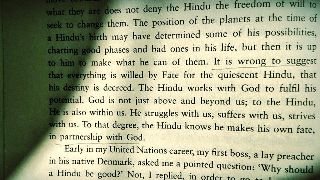 यह कहना गलत है कि हिंदू भाग्य के भरोसे चुपचाप बैठा रहता है और कि उसकी किस्मत लिखी हुई है
