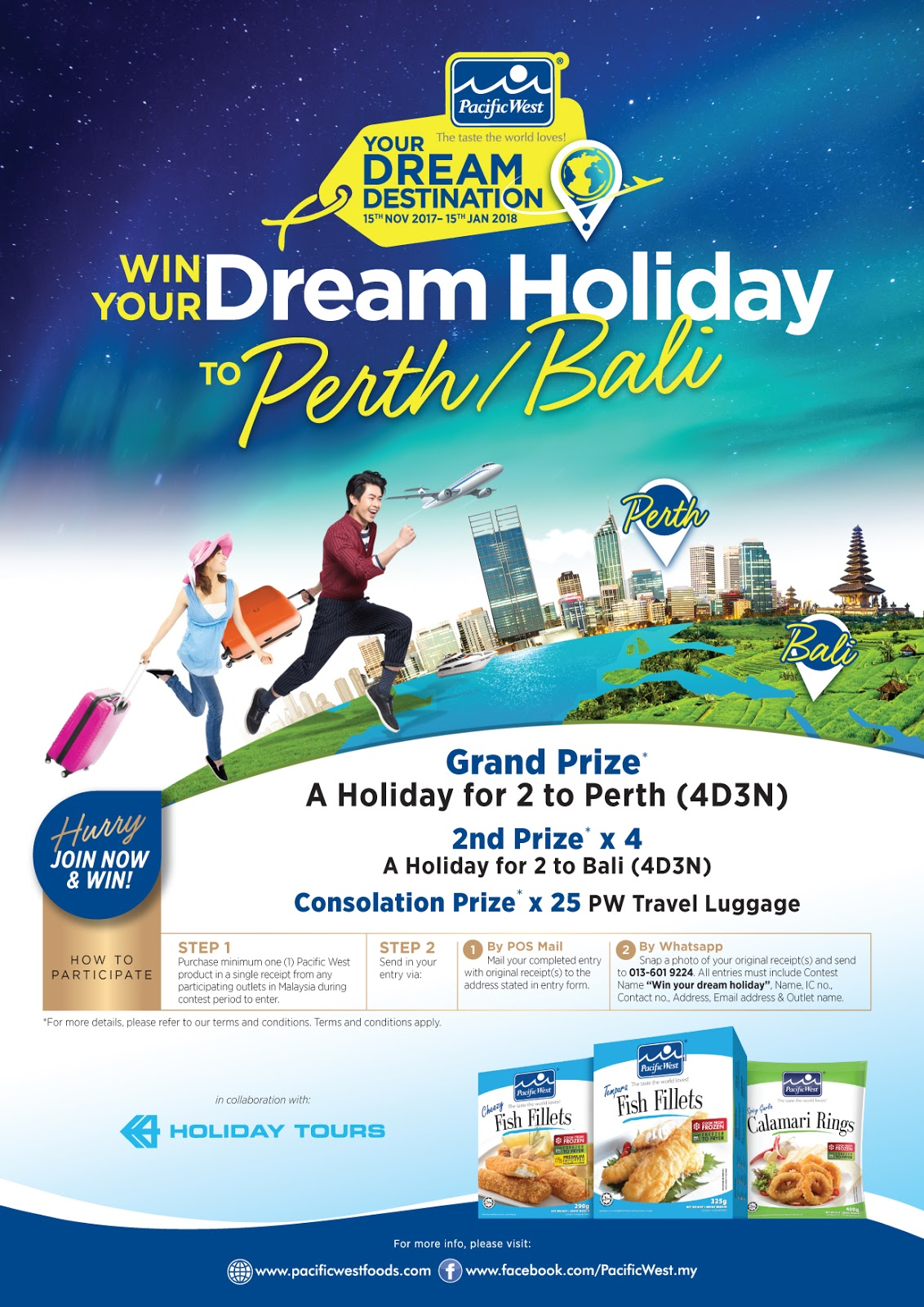 produk pacific west, cheezy fillet dan resepi mudah, win your dream holiday