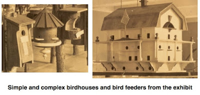 Simple and complex birdhouses and birdfeeders
