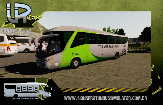 Skin Proton Bus Simulator Road - G7 1200 MB O-500 RS Viação Transbrasiliana