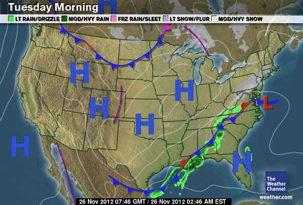 HD Decor Images » Daily Weather Newsletter  2012 11 04     of the front  with rain and the slight possibility of thunderstorms   but places like the higher elevations of Kentucky  Tennessee  Virginia and  the