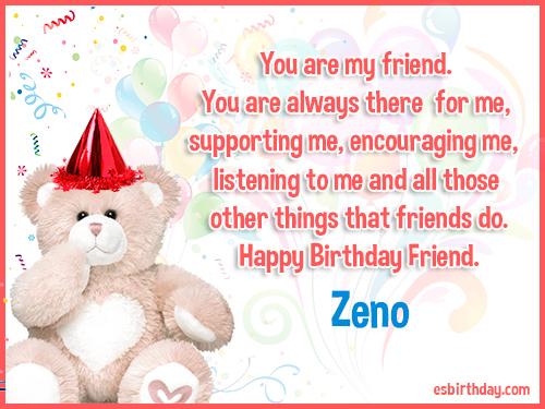 Zeno Happy birthday friends always