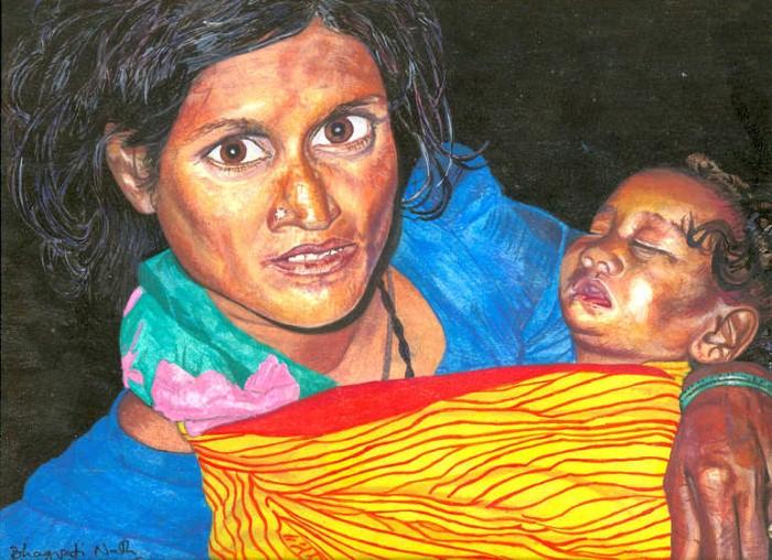 Рисунки акварелью. Bhagvati Nath 5