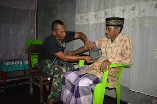 Satgas TMMD OBA Berikan Layanan Kesehatan Gratis Bagi Masyarakat di wilayah Kec. Oba Kota