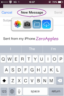 Cara Menambahkan attachment file email di iPhone