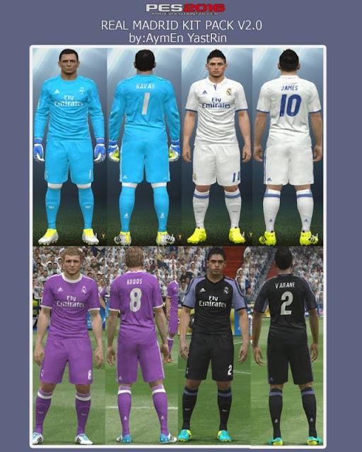PES 2016 Real Madrid Kit Season 2016-2017