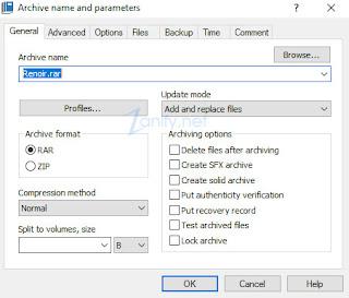 Cara Membuat File RAR/ZIP