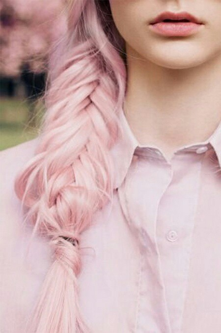 Pink dying hair style
