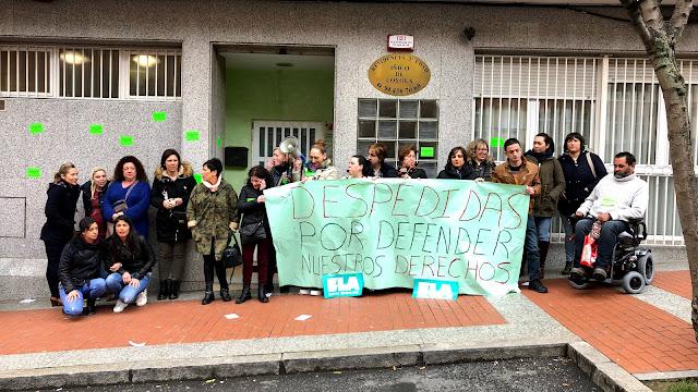 Protesta a las puertas del centro de ancianos