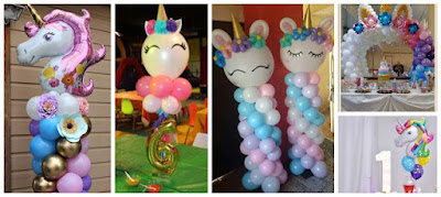 Decoración-globos-unicornio